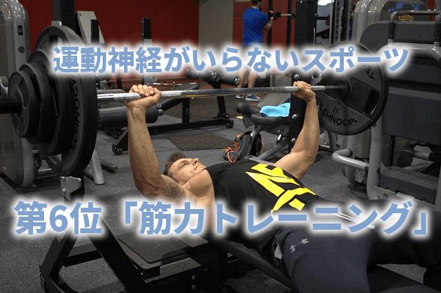 運動神経がいらないスポーツ 第6位「筋力トレーニング」